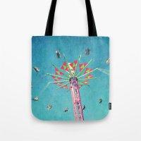 vertigo Tote Bags featuring vertigo by Sylvia Cook Photography