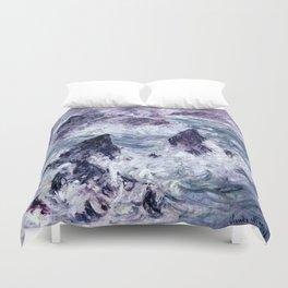 Monet : Storm At Belle Ile Duvet Cover