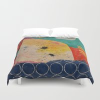 sharks Duvet Covers featuring Sharks  by Erica Field