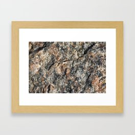 Stone background Framed Art Print