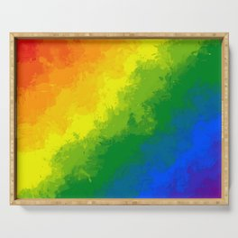 LGBT Flag Watercolour Serving Tray