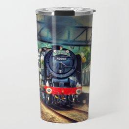 Steam Engine Locomotive Travel Mug