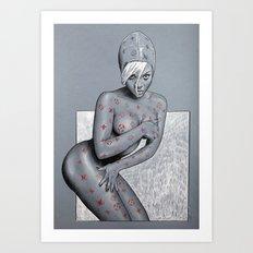 Nude girl 4 Art Print