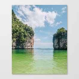 Crystal Waters and White Limestone Cliffs in Thailand Fine Art Print Canvas Print