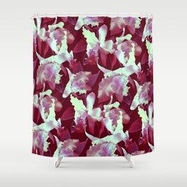 Crimson Orchid Shower Curtain