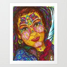 Wisdom Keeper Color #49 (Peaceful Revolution) Art Print