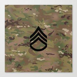 Staff Sergeant (Camo) Canvas Print