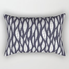 Quail Feathers (Midnight) Rectangular Pillow