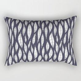 Quail Feathers (Midnight) Rectangular Pillow