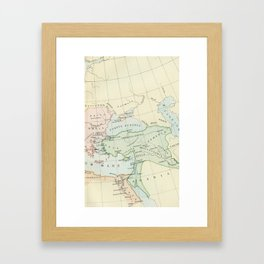 Old Map of The Roman Empire Framed Art Print