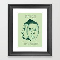 Watch The Throne II Framed Art Print