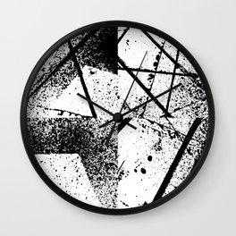 black abstract paint Wall Clock