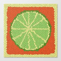 coasters Canvas Prints featuring LIME MOSAIC by Tanya Pligina