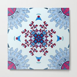 blue and red pattern Metal Print