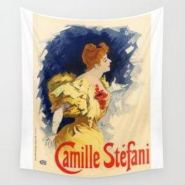 Belle Epoque vintage poster, Camille Stefani Wall Tapestry