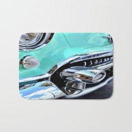 Turquoise Blue Vintage Car Bath Mat