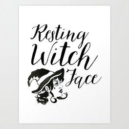 Resting Witch Art Print