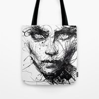 agnes Tote Bags featuring In trouble, she will. by agnes-cecile