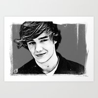 liam payne Art Prints featuring Liam Payne by D77 The DigArtisT
