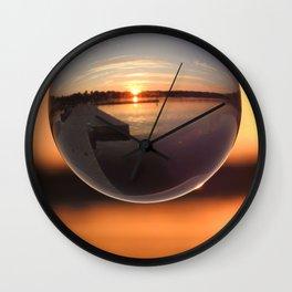 Sunset Through the Crystal Ball Wall Clock