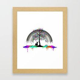Colorless Raimbow Framed Art Print