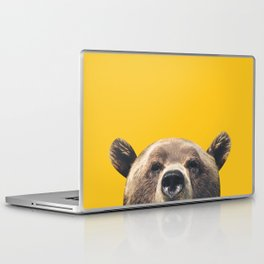 Bear - Yellow Laptop & iPad Skin