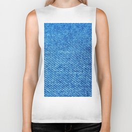 MACRO PHOTOGRAPHY - JEANS TEXTURE MATERIAL Biker Tank