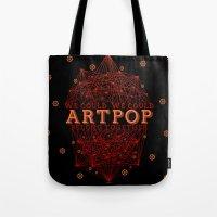 artpop Tote Bags featuring Artpop by Mario Ezquerra