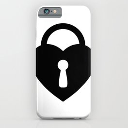 Locked Heart - black iPhone Case