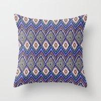 ikat Throw Pillows featuring IKAT by Isabella Salamone