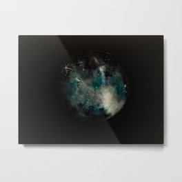 Out of Space - Blue Planet Metal Print