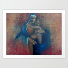 Virgin Blue Art Print