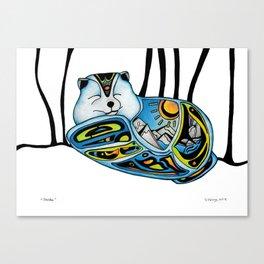 """Sheldon"" Arctic Fox Canvas Print"