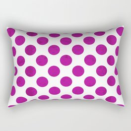 Fuchsia Polka Dot Rectangular Pillow