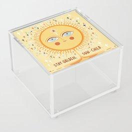 Stay golden Acrylic Box
