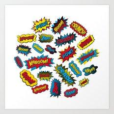Super Words! Art Print