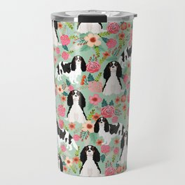 Cavalier King Charles Spaniel floral flowers dog breed pattern dogs mint Travel Mug