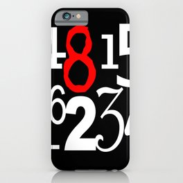 Lost Numbers in Black iPhone Case