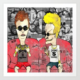 Beavis And Butthead Art Print