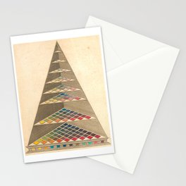 Vintage Color Pyramid by Johann Heinrich Lambert, 1772 Stationery Cards