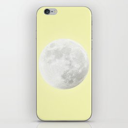 WHITE MOON + CANARY YELLOW SKY iPhone Skin