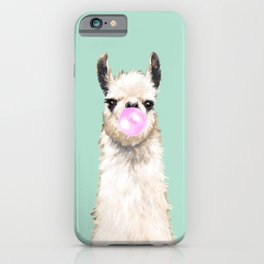 Bubble Gum Popped on Llama (1 in series of 3) iPhone Case