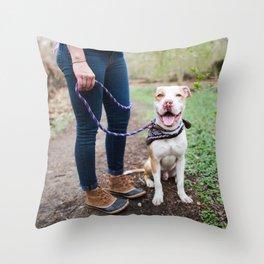 Jack, 1 y/o, Pit Bull, Bronxville, NY Throw Pillow