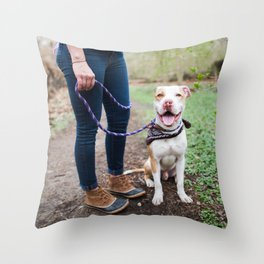 Jack, 1 y/o, Pit Bull, Bronxville, NY Throw Pillow