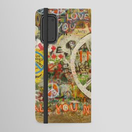 Peace Sign - Love - Graffiti Android Wallet Case