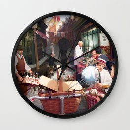 Rue The Day by Jeff Lee Johnson Wall Clock