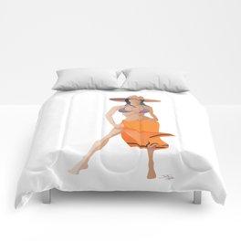 Minimalist Girl Comforters