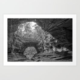 Natural Bridge, Wayne County, TN Art Print