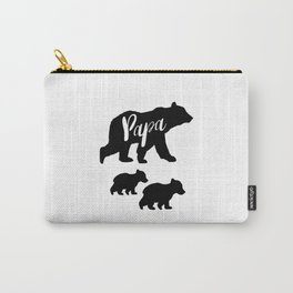 Papa Bear T Shirt with Two Cubs Carry-All Pouch