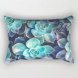Flourescent Succulents Rectangular Pillow